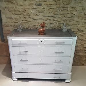 Armoire en bois blanc Laetitia
