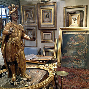 Conservation et restauration de bois dorés d'encadrement d'art Marlène