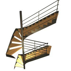 Ensemble de deux escaliers un quart tournant. Sylvain