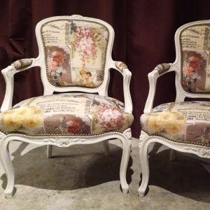 Restauration d'une paire de fauteuils cabriolet Louis XV Aurélie