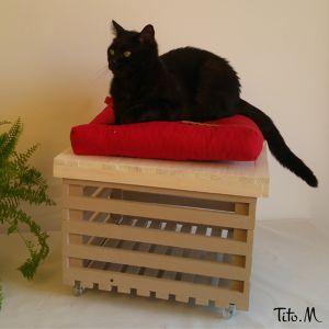 Rangements et siège/table basse d'appoint Sabrina