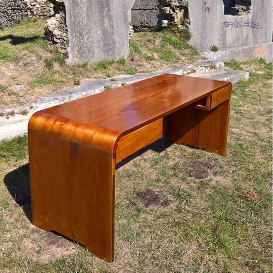 Bureau D Angle Arrondi bureau sur mesures style 60's, un projet de martin gauge