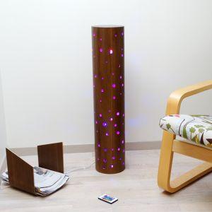 Lampe multicolore en bois finition chêne, Emmanuel
