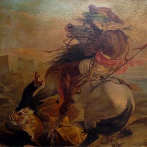 Nettoyage d'un tableau orientaliste Maud