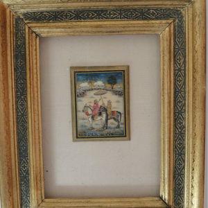 Encadrement pour une miniature originale Iranienne Sylvie