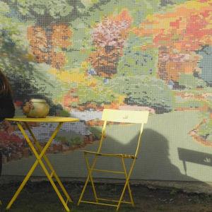 Fresque murale en micro-mosaïque Camille