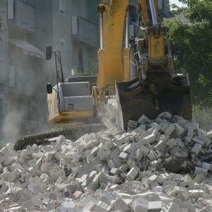 Déblayage d'un chantier Rodrigo