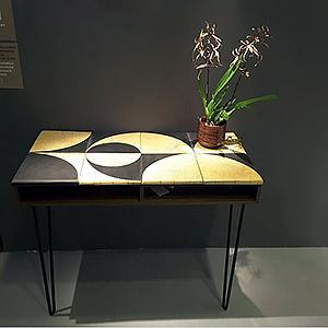 Console chêne massif et céramique Fabienne
