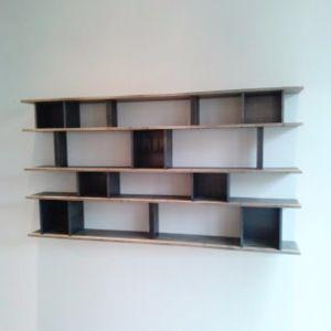 Bibliothèque bois/metal Bruno