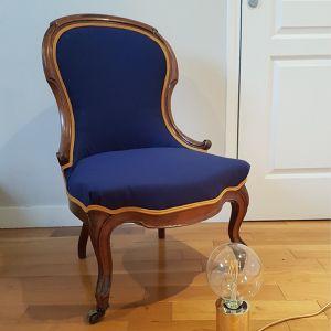 Fauteuil Napoleon III Bleu & jaune Valérie