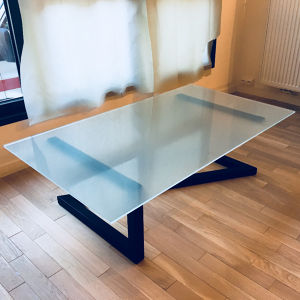 Table basse Z en verre Martin