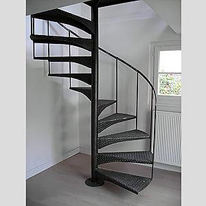 Escalier hélicoïdal acier  Paris FRANÇOIS