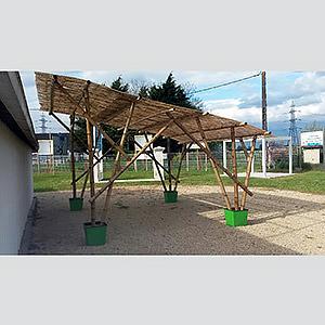 Pergola design en bambou alaric