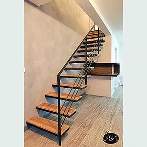 Escalier sans limon apparent - esprit industriel Christophe