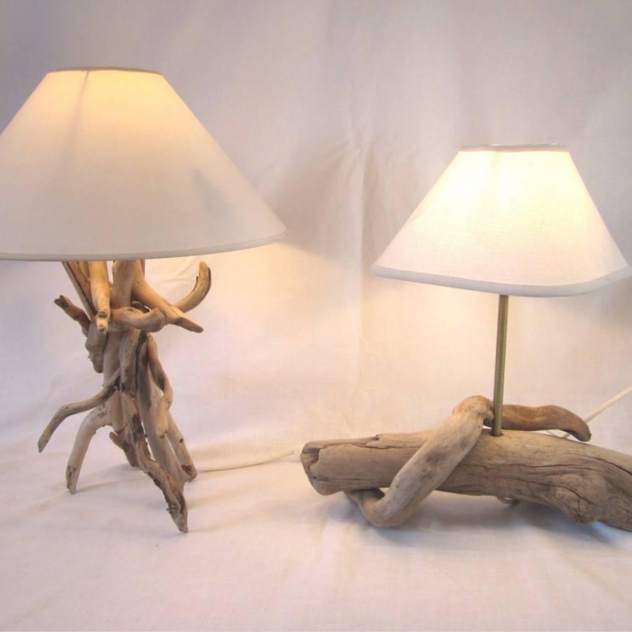 lampe bois flotté - création unique, un projet de barbar