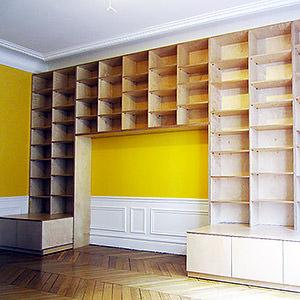 Bibliothèque bouleau Stéphane