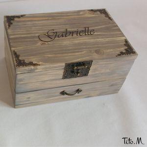 Boîte à bijoux à personnaliser Sabrina