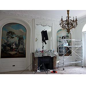 restauration de peintures de boiserie dans un hôtel particulier de Paris 7ème Hélène