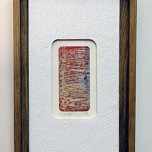 montage contemporain sur caisse américaine d'un collage original de Nejma Haji - artiste contemporai Sylvie