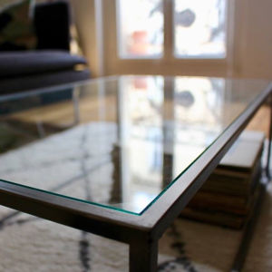 Table basse en verre Martin