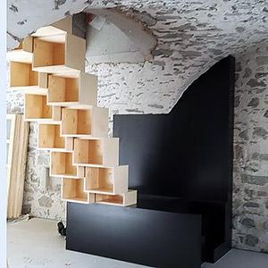 Escalier à pas japonais / KOYA Architecture Guillaume