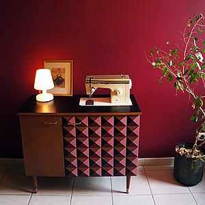 """Personnalisation meuble """"couture"""" vintage Floriane"""