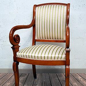 Réfection complète fauteuil de style Louis Philippe Julie