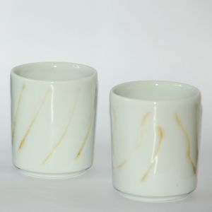 Gobelets en porcelaine sur mesure Bas
