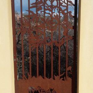 Portail décoratif en acier rouillé JEAN-MARC