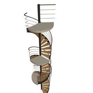 3 escaliers colimaçon Sylvain