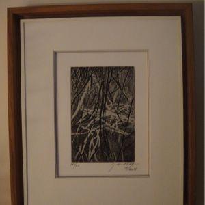 Encadrement conservation sur une estampe originale de Marie Alloy 2 Sylvie