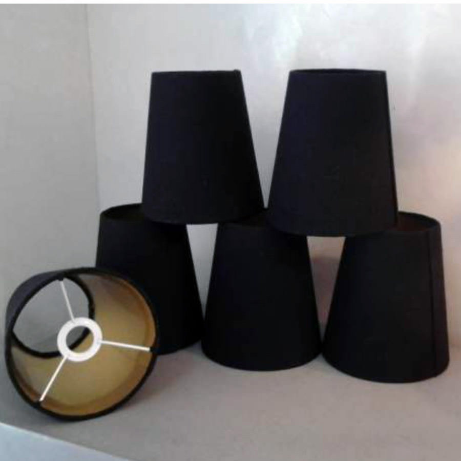 petits abat jour de lustrerie noir par sylvie l. Black Bedroom Furniture Sets. Home Design Ideas
