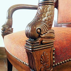 Restauration d'un fauteuil Empire Sonia