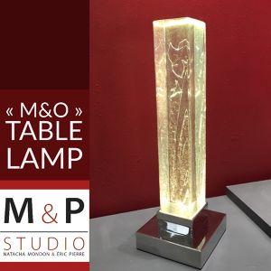"""Lampe """"M&O"""" Natacha et Eric"""