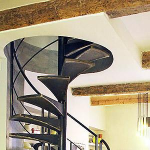 Escalier hélicoidal en metal Florent