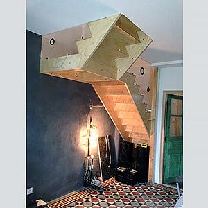 Escalier sur-mesure en pin Damien