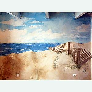 Fresque bord de mer nathalie