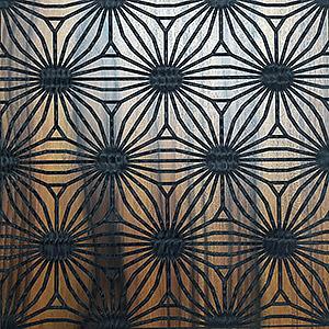 Dalle murale - Marqueterie macassar moire lyonnaise -prête à poser Mariane