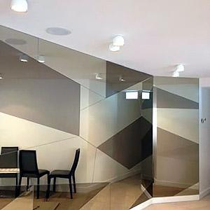 Damier en miroirs de différentes teintes Gautier