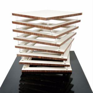 Table basse superposition combinée à une rotation Maxime