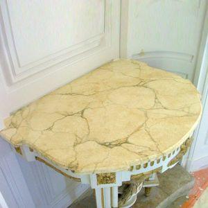Imitation de marbre sur console en bois Eddy
