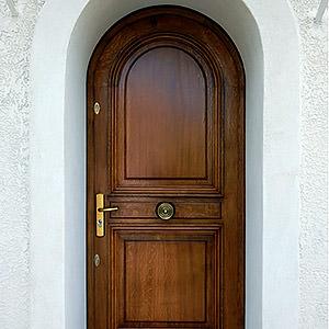 Porte d'entrée plein cintre en Chêne Frédéric