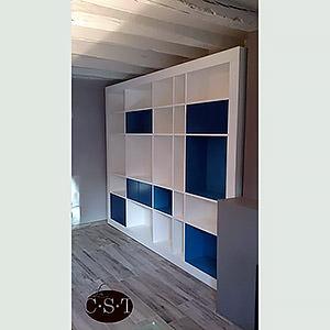 Bibliothèque bleue et blanche Christophe