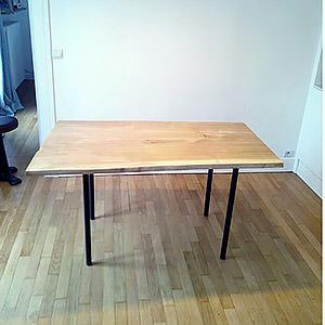 Table en chêne massif Solveig