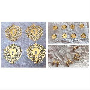 Restauration d'entrées de serrures en cuivre doré Alice