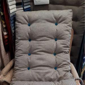 Coussin chaise boutonné VIRGINIE