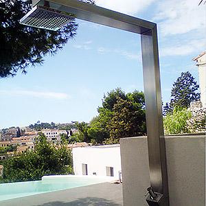 Douche extérieure piscine- inox Mathieu