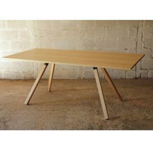Table frêne acier Pierre