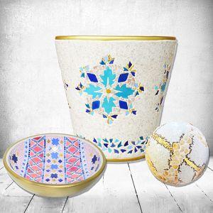 Vase , vasque et sphère Laurence