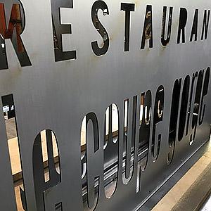 Enseigne lumineuse restaurant laurent